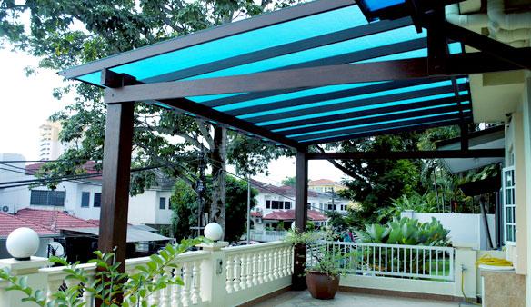 Pergola Skylight Roof Tiles Gazebo Laminated Glass Amp